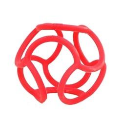 Mordedor bolli de silicona rojo